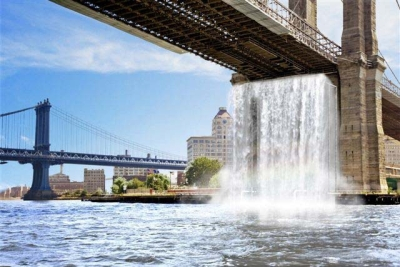 The New York City Waterfalls, di Olafur Eliasson