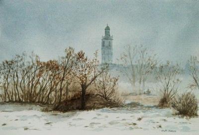 Paesaggio lombardo in gennaio, di Oscar Morosini
